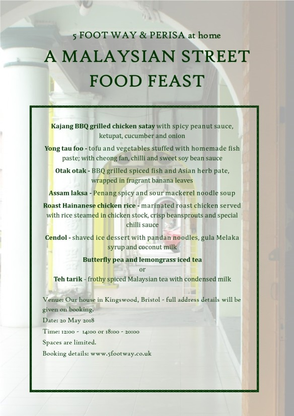 Streetfood supperclub menu